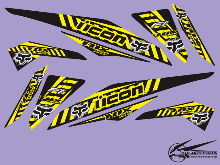 Sticker beat fi striping fox racing thai style