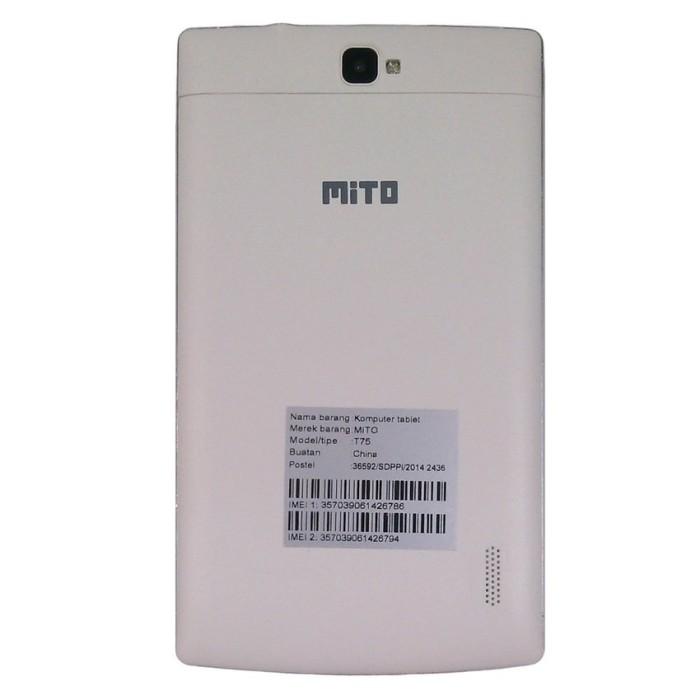Mito T75 Fantasy Tablet-8GB-Putih+Gratis Flipcover Original