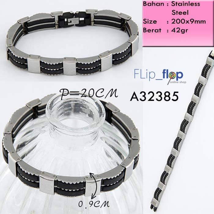 harga Cool punk stainless steel import korean fashion bracelet - gelang pria Tokopedia.com