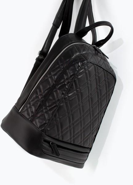 Jual Tas Zara Black Quilted Rucksack - Toko Tas Ori | Tokopedia : quilted rucksack zara - Adamdwight.com