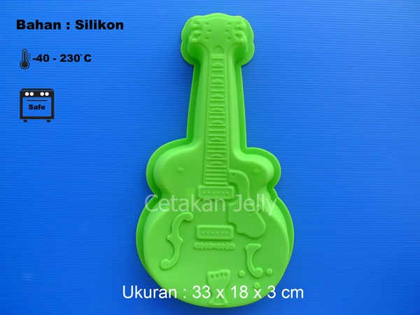 Cetakan es puding jely coklat gitar guitar ice pudding jelly mold