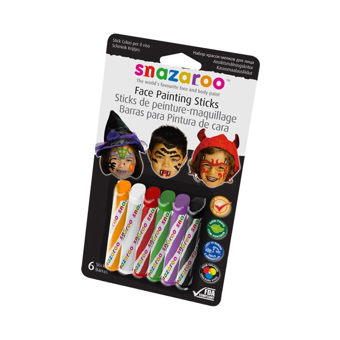 harga Snazaroo face painting sticks - halloween Tokopedia.com