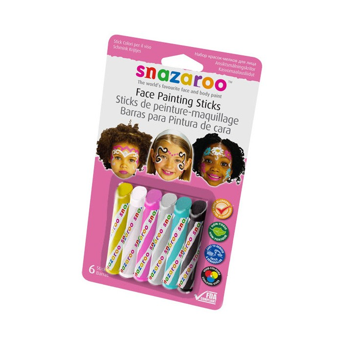 harga Snazaroo face painting sticks - girls Tokopedia.com