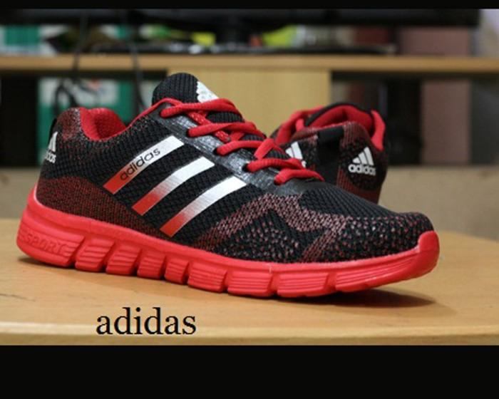 Jual Sepatu Adidas Hitam Merah   Olahraga Sport Pria Casual Joging ... 01f4cef4cd