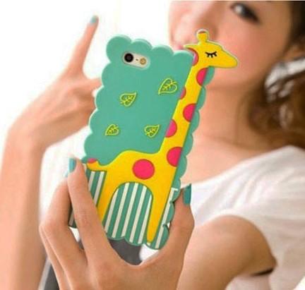 harga Silicone case iphone 5/5s 3d giraffe dark green Tokopedia.com