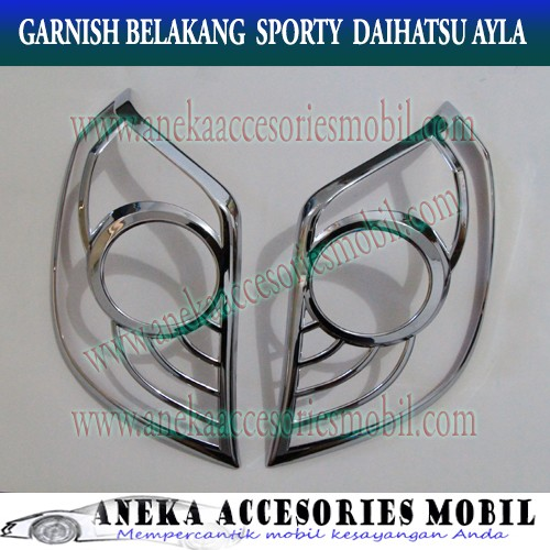 harga Garnish lampu belakang/rear lamp garnish sporty mobil daihatsu ayla Tokopedia.com