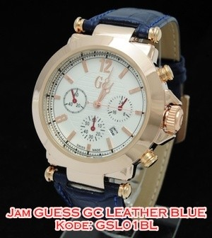 harga Gsl01 bl jam tangan guess collection gc leather blue kulit gsl01bl Tokopedia.com