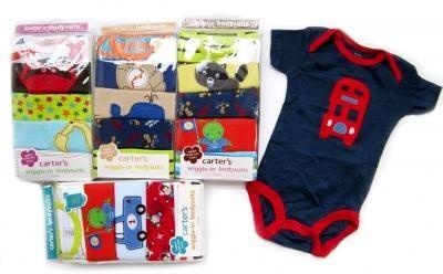 Jumper Carter 5 in 1 Lengan Pendek Baju Bayi Laki Perempuan Branded