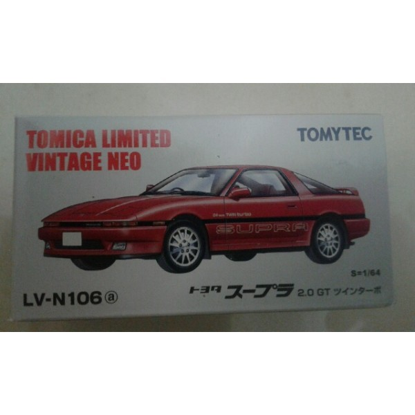 45d07725a2bb Jual LV N106a Toyota Supra 2.0 GT red TLV Tomica Limited Vintage ...