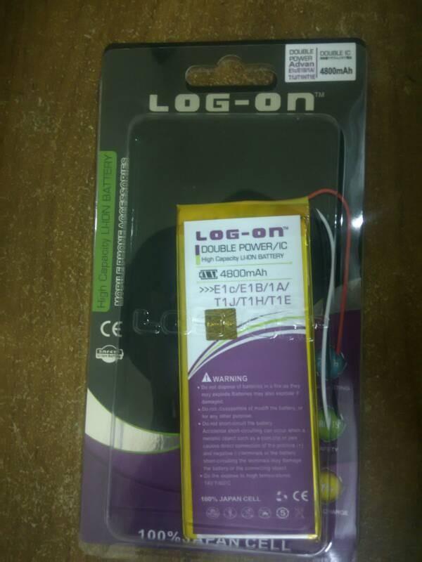 harga Baterai log-on tab advan e1c/e1b/1a/t1j/t1h/t1e 4800mah Tokopedia.com