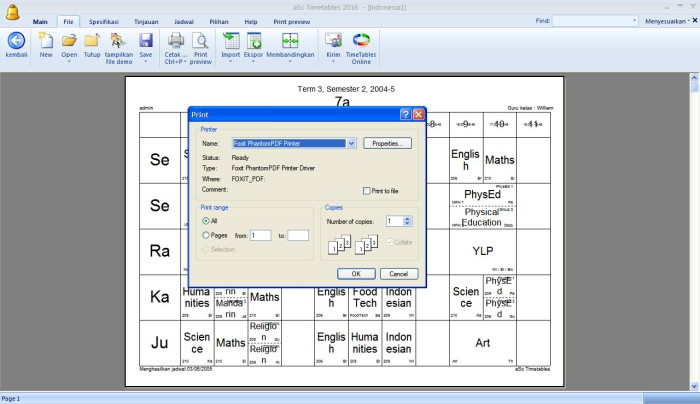 Jual Membuat Jadwal Pelajaran Dengan aSc Timetables 2019 Terbaru - DKI  Jakarta - Gerai Software | Tokopedia