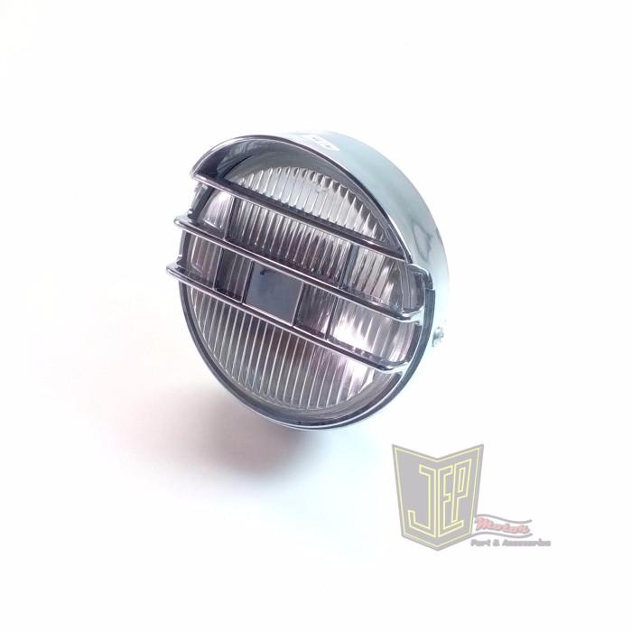 harga Headlamp japstyle king tipis kaca bening kover krom Tokopedia.com