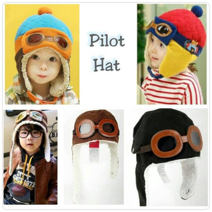 harga Topi pilot hat kupluk bayi baby anak kids balita toddler Tokopedia.com