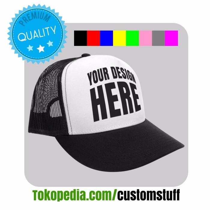 Jual Topi Trucker Sablon Design Bebas - customstuff  39c96eb999