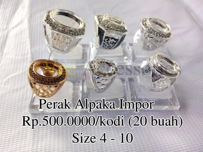 harga Grosir ring / emban / ikat cincin perak alpaka impor Tokopedia.com