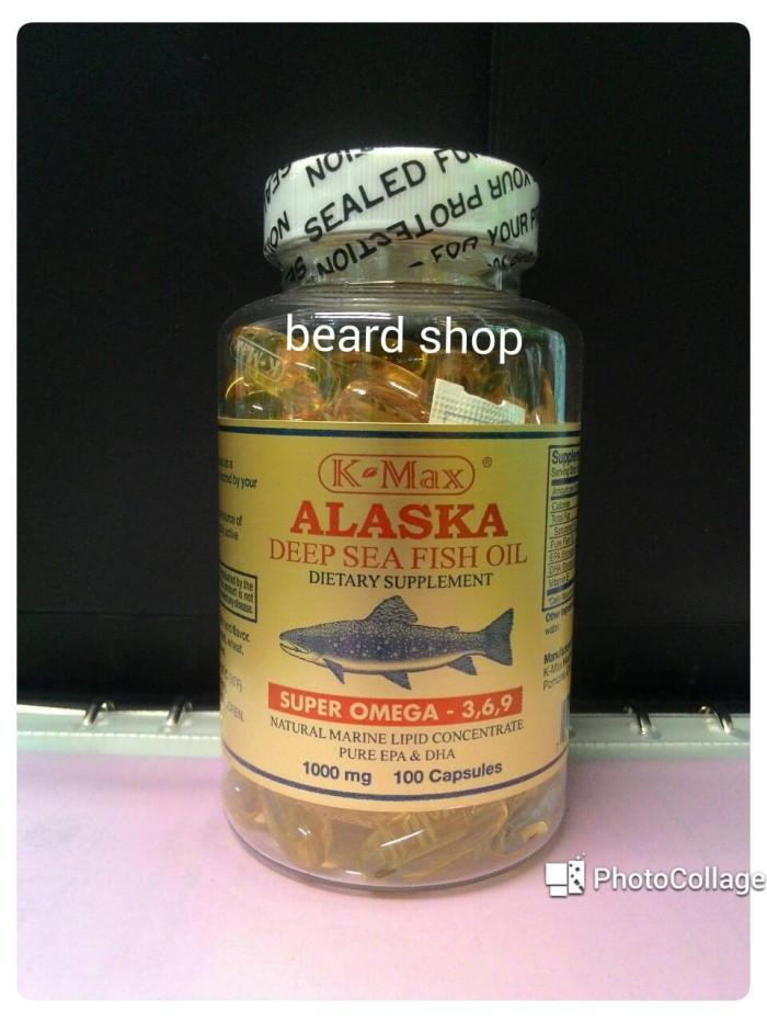 K-Max Alaska Deep Sea Fish Oil Minyak Ikan Omega 3 6 9 Tutup Putih