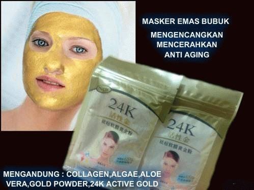 ... Masker Emas Bubuk 24K Gold Kualitas Bagus Original ...
