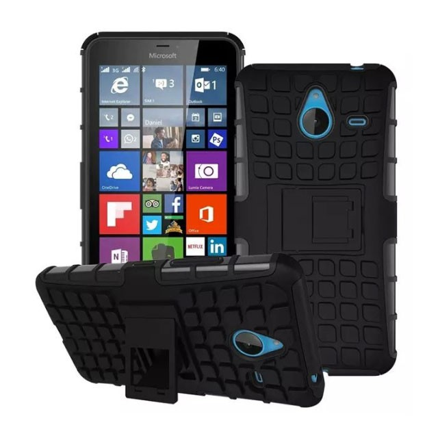 harga Microsoft lumia 640 xl 640xl shockproof armor hybrid hard & soft case Tokopedia.com