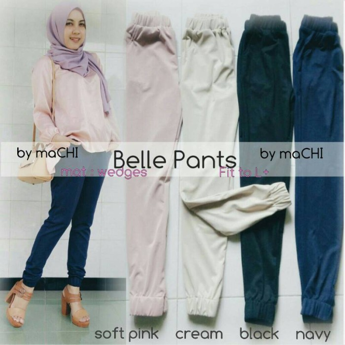 harga Supplier baju hujab ; belle pants / celana wedges / celana hijab Tokopedia.com