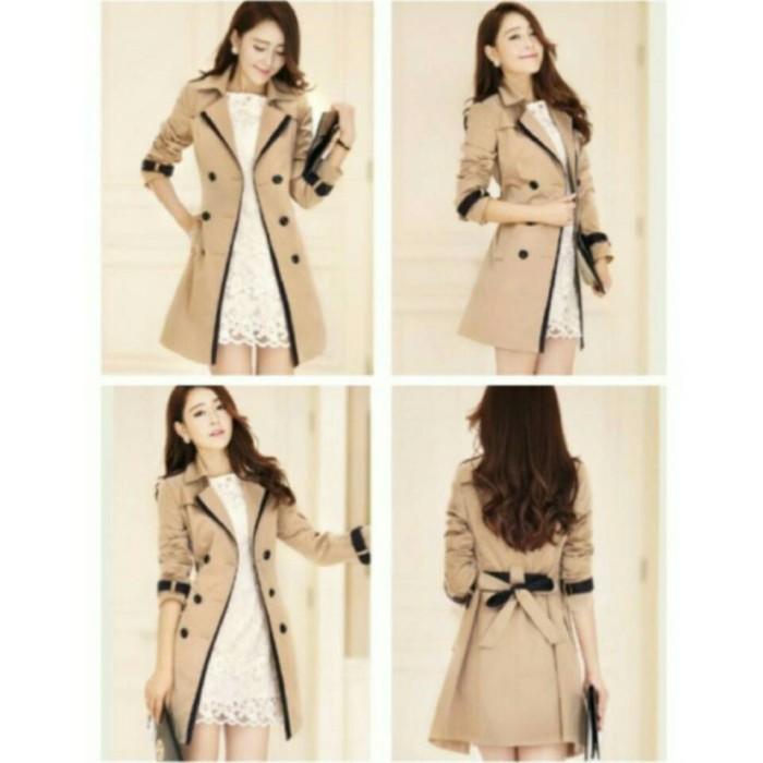 Jual Jas blazer Mantel Coat Wanita Korea Glamoury - Beige b08367e8a9