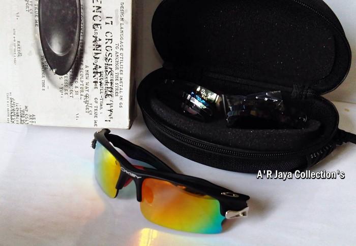 Jual Sunglasses   Kacamata Oakley Fast Jacket Black Ducati ( 5 Lensa ... 1cbfa57ec0