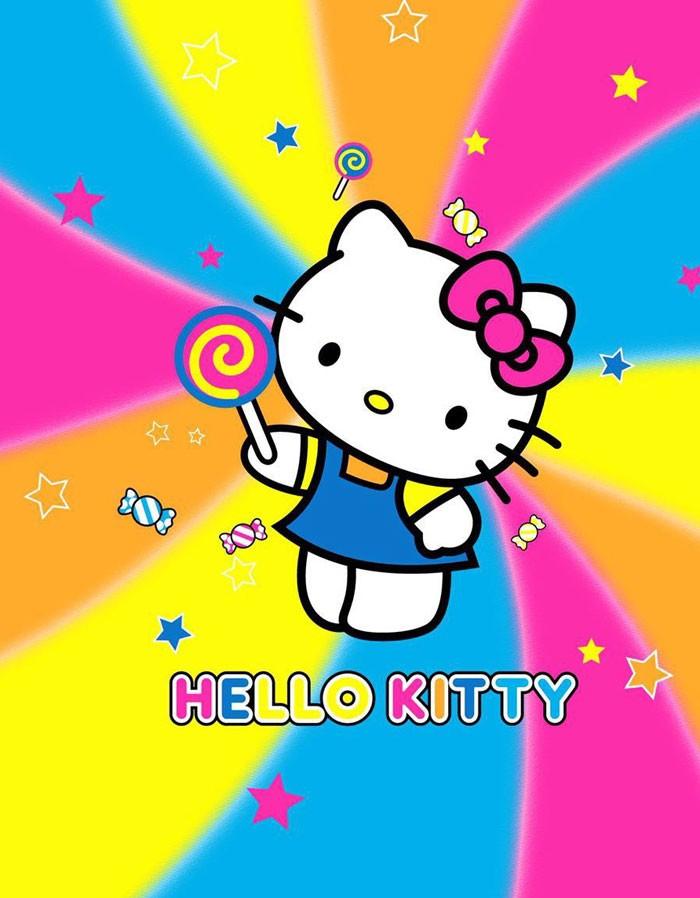 ... harga Selimut bulu/soft panel blanket 160x220cm hello kitty rainbow Tokopedia.com