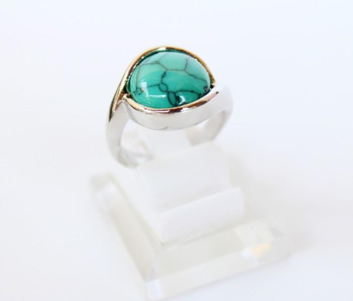 harga Cincin batu pirus china - cincin batu akik pirus silver wanita - capb4 Tokopedia.com