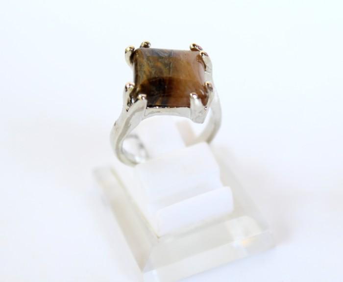 harga Cincin batu tiger eye - cincin batu akik tiger eye silver wanita #2 Tokopedia.com
