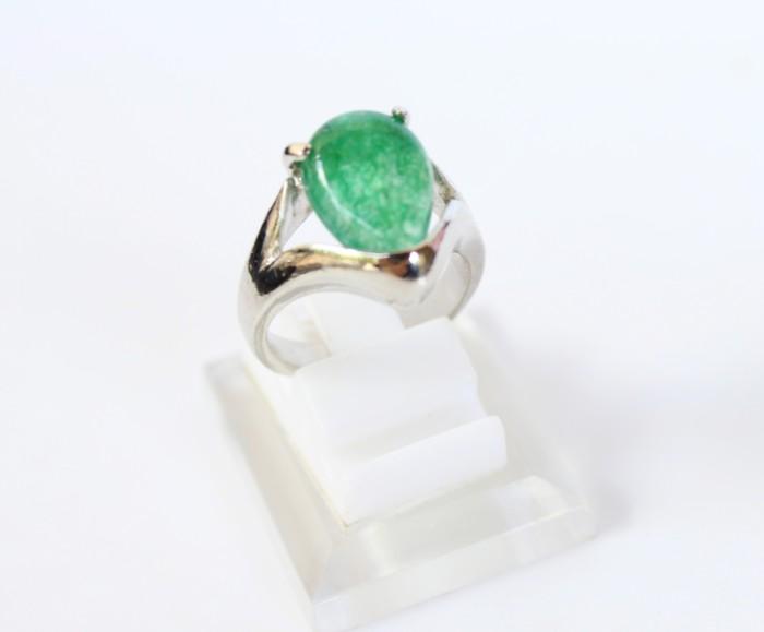 harga Cincin batu giok hijau - cincin batu akik giok wanita silver cag5 Tokopedia.com