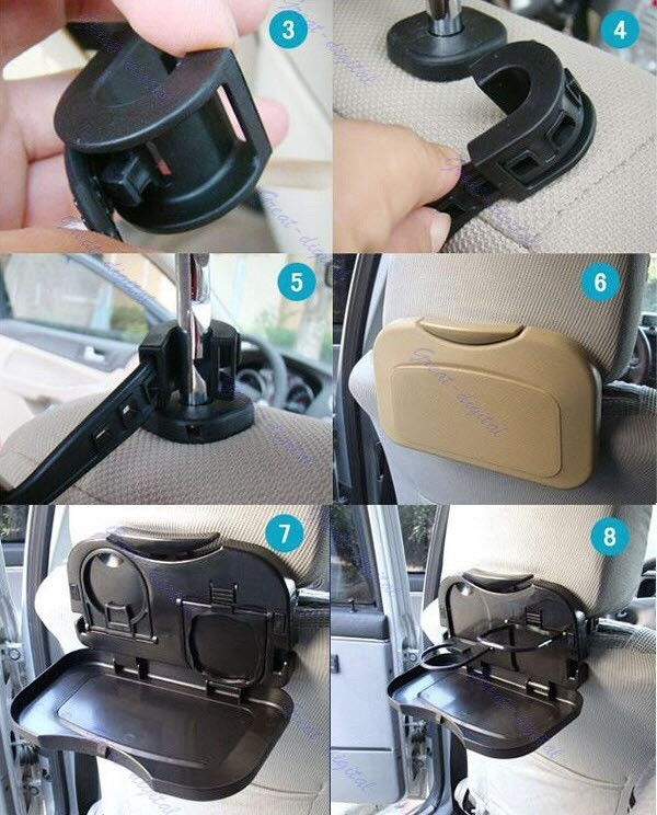 harga Murah car seat portable dinning travel meja makanan lipat seat mobil Tokopedia.com