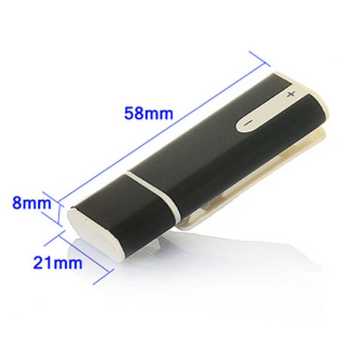 USB FlashDisk + Mini Clip 8GB + Voice Recorder + .