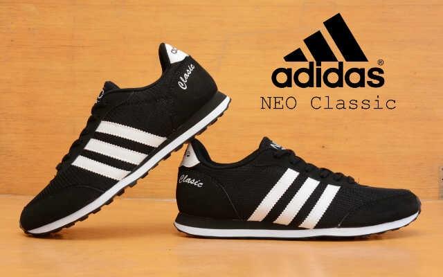 best website 71a53 e8e7b ... where to buy sepatu murah adidas neo classic hitam ec80d f1a47