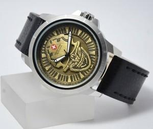 Foto Produk Jam Tangan Pria / Cowok Swiss Army SA 3010 Original -Silver Black Gold dari Arloji Murah Berkualitas