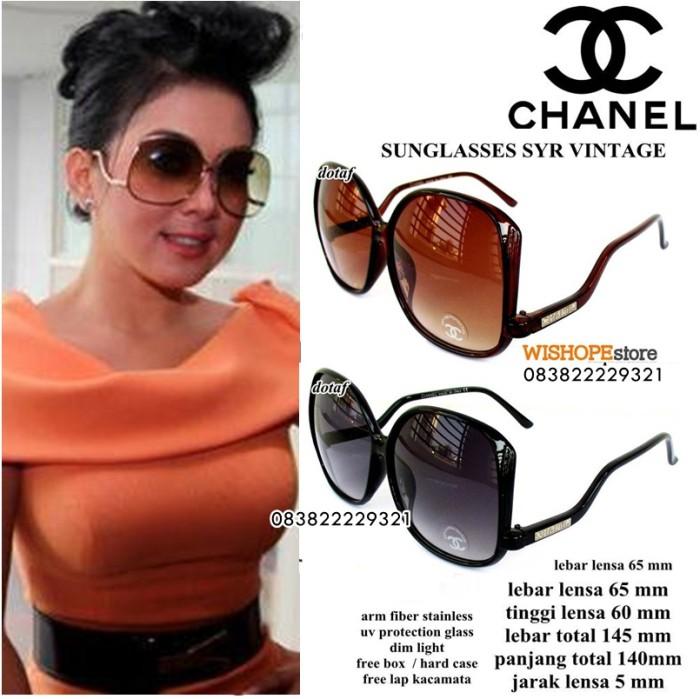 harga Kacamata sungglass chanel syahrini full set Tokopedia.com