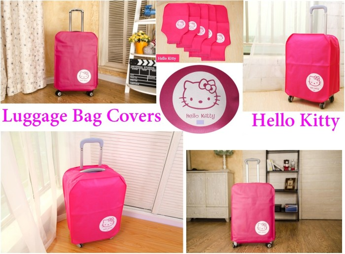 harga Luggage cover sarung pelindung koper kain kanvas hello kitty 28 inch Tokopedia.com