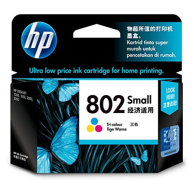 harga Tinta printer hp 802 warna Tokopedia.com