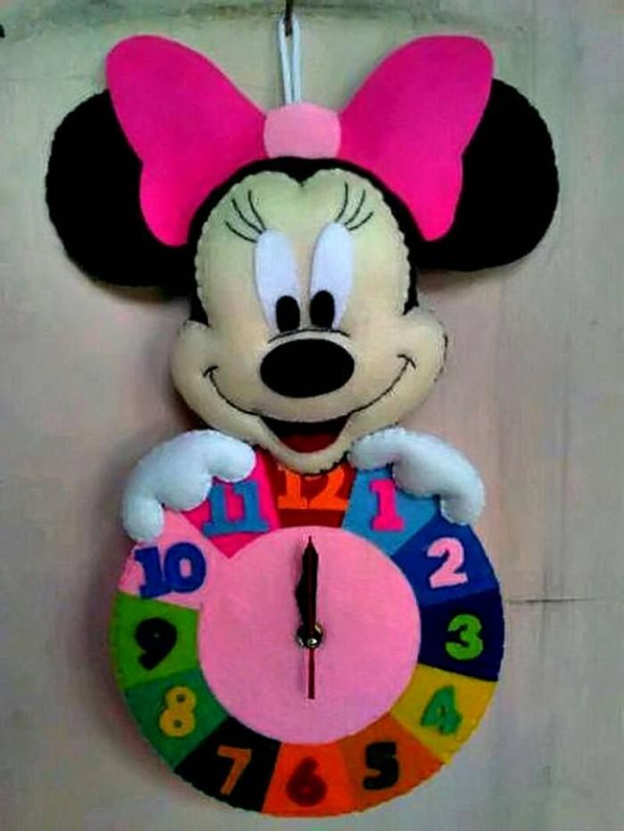 Jual Jam Dinding Flanel Lucu Unik Karakter Kartun Minnie Mouse Pita ... 95fc9084a9