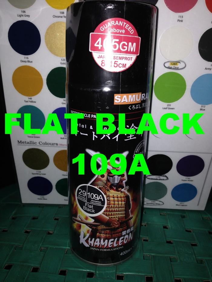 Samurai Paint - Flat Black 109A Doff - Cat Semprot Spray Aerosol Paint