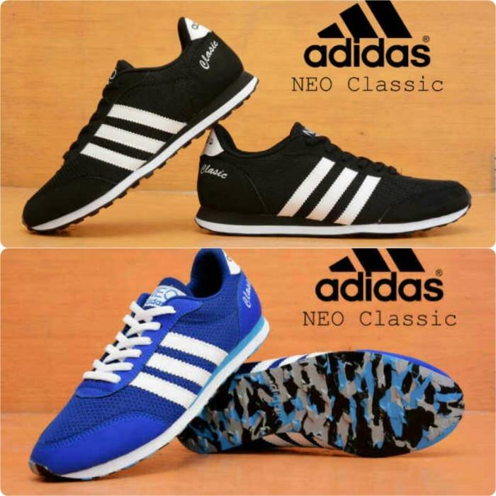 new concept 45995 0d566 ... discount code for sepatu adidas neo classic hitam biru putih 00393 3aa84