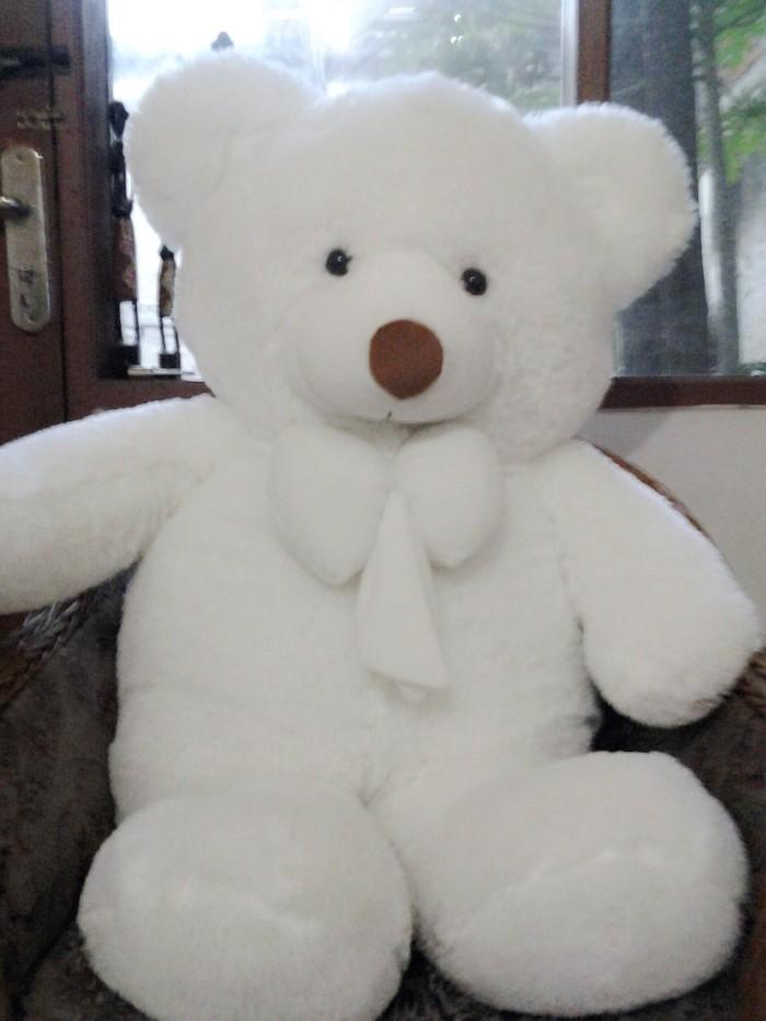 Jual Boneka Beruang Teddy Bear Putih Super Jumbo 120 CM - Boneka ... 245cb4b2a6