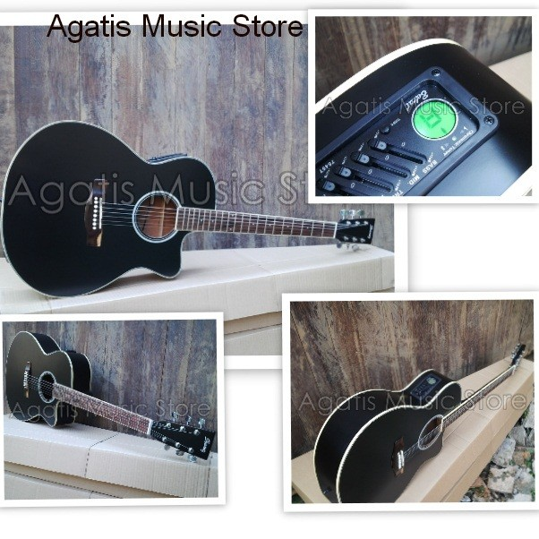 harga Gitar akustik elektrik grand blackdoft eq7545t tuner Tokopedia.com