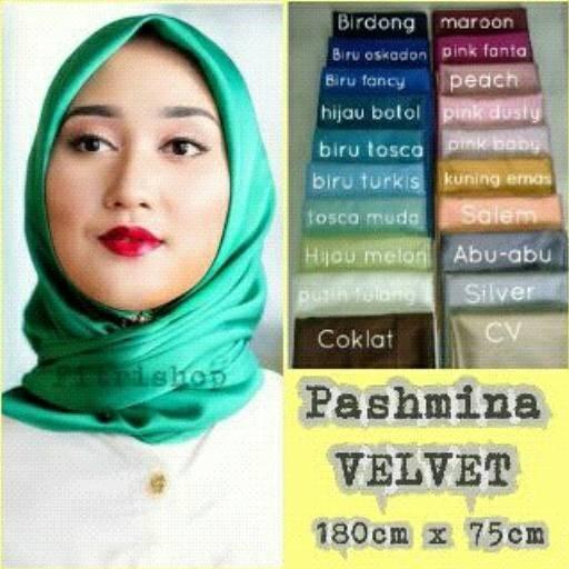 harga Pasmina murah satin velvet Tokopedia.com