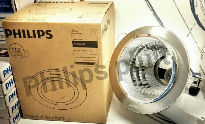 Rumah lampu philips nickel no cover 3.5 - recessed light/downlight