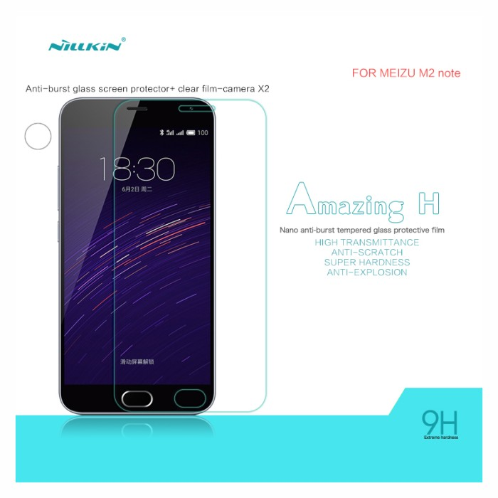 Nillkin Anti Gores Tempered Glass 9H - Meizu M2 Note