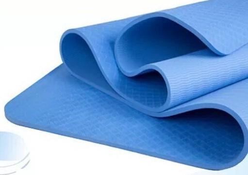 Jual Denlus Tpe Yoga Mat Single Layer Blue Kota Bogor Yoga Yogi Indonesia Tokopedia