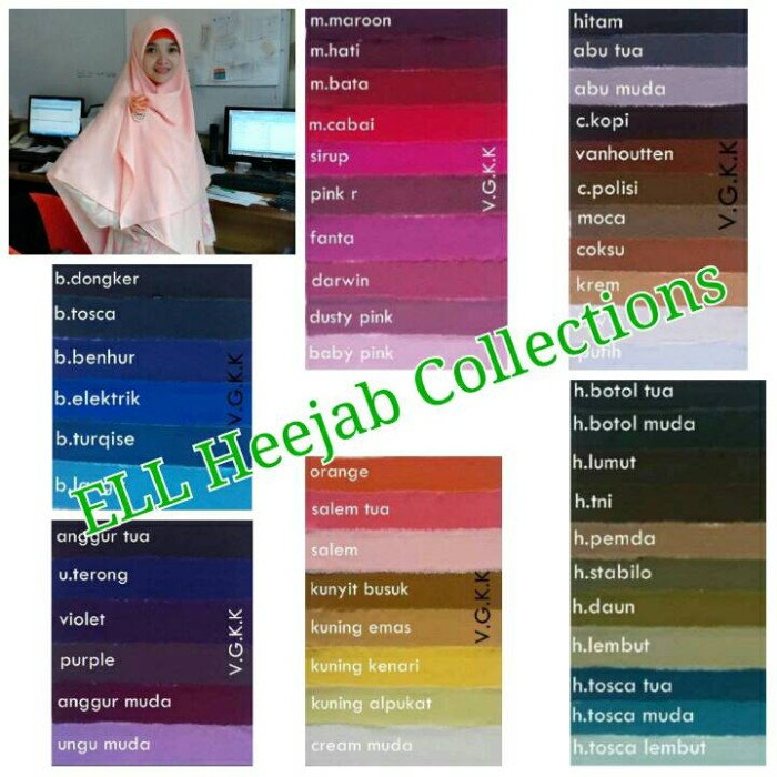 harga Jilbab syar'i segi empat woolpeach 120 cm x 120 cm Tokopedia.com