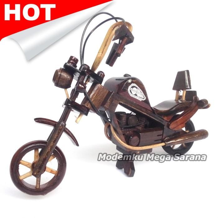 harga Miniatur motor harley davidson kayu ukuran m 28x20x6 cm Tokopedia.com