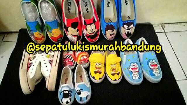 Jual Jasa Lukis Sepatu Bandung - sepatu lukis murah bdg  48cd064f64