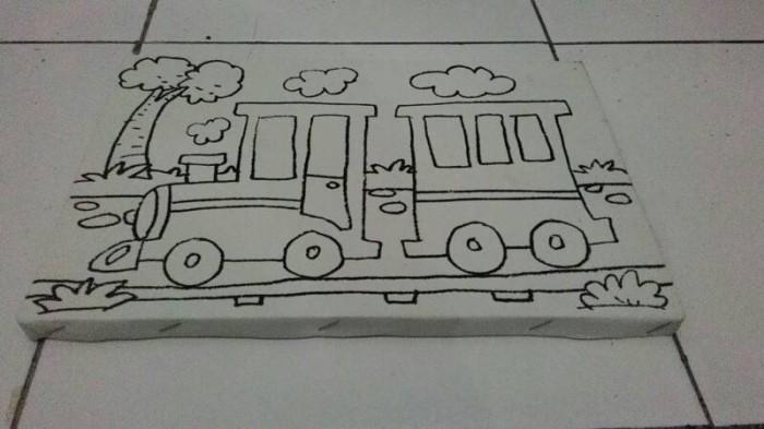 Jual Kanvas Mini Utk Mewarnai Kereta Api Kota Surabaya