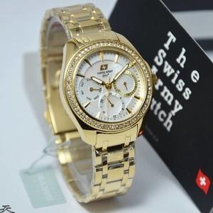 Jam tangan Wanita Swiss Army 2237 Original (Rosegold/Gold)